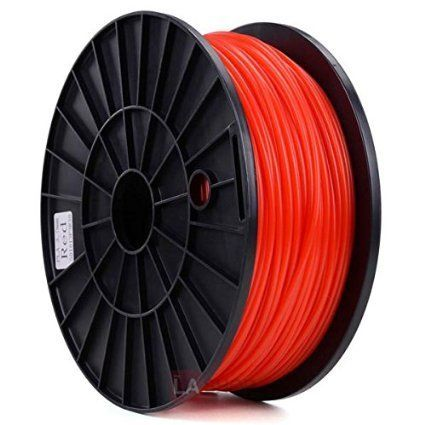 Durable 1kg Spool 2.2lbs 3mm Red PLA Plastic Filament Eco-friendly 3D Printer Computer Material DIY Design Model w/ Higher Printing Temperature 210ºC~230ºC *** Click on the image for additional details.