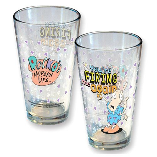 Nickelodeon Rocko's Modern Life Firing Me Again Pint Glass - ICUP - Rockos Modern Life - Pint Glasses at Entertainment Earth