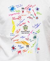 "TAG TEE C - TAG TEE' T-Shirts School leavers now have a chance to remember their school days by wearing these great customised ""TAG TEE"" T-Shirts. With your school logo printed in full colour. No VAT On Childrens Clothing. Minimum quantity 25."