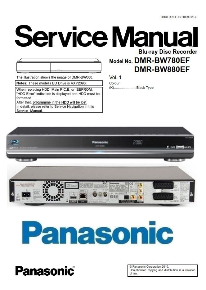 Panasonic Dmr Bw880 Bw780 Blu Ray Recorder Service Manual Printed Circuit Boards Blu Ray Repair Guide