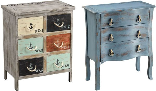 Vintage and country-chic chests and side tables :: #vintage #productdesign #furniture