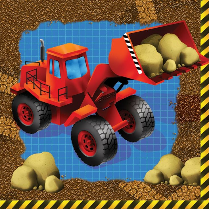 Buy Kids Birthday Party Supplies Construction Trucks Beverage Napkins , for $5.95 only at Party Craze.