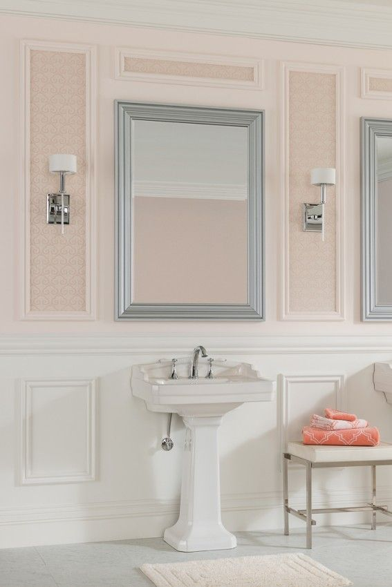 men bathroom tumblr%0A Adding Moulding to your Bathroom