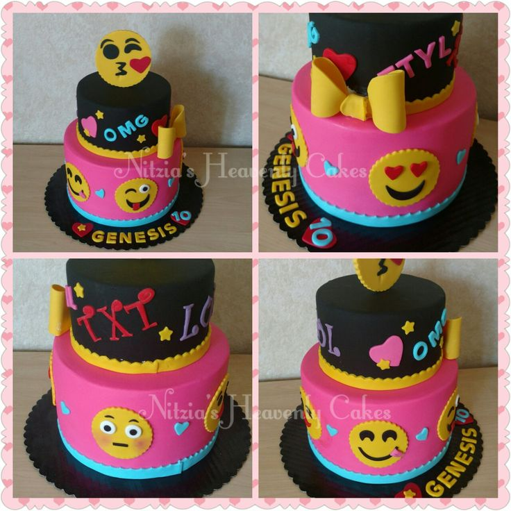 Emoji Birthday Cake My Cakes Pinterest Birthday