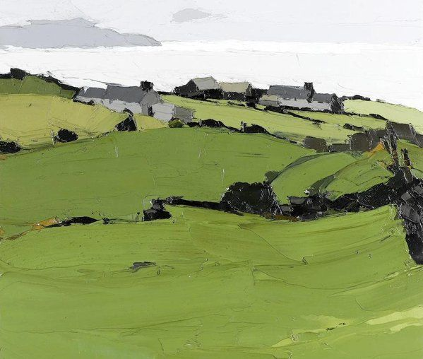Kyffin Williams(UK 1918ー2006)「Rhos Cryman, Anglesey」