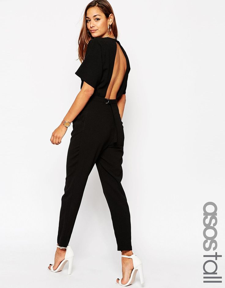 ASOS+TALL+Jumpsuit+In+Crepe+with+Open+Back+