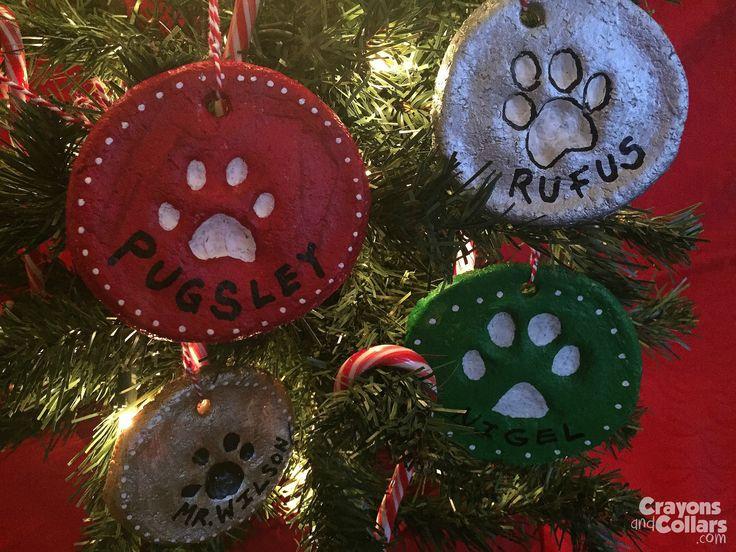 Homemade Pawprint Ornaments