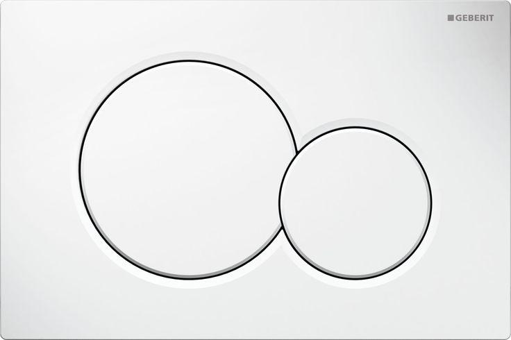 Geberit Sigma01: 7 farklı renk seçeneği ve çift kademeli deşarj ile su tasarrufu sağlayan kumanda kapağı. Pisuvarlar için kumanda kapağı modeli de mevcuttur.