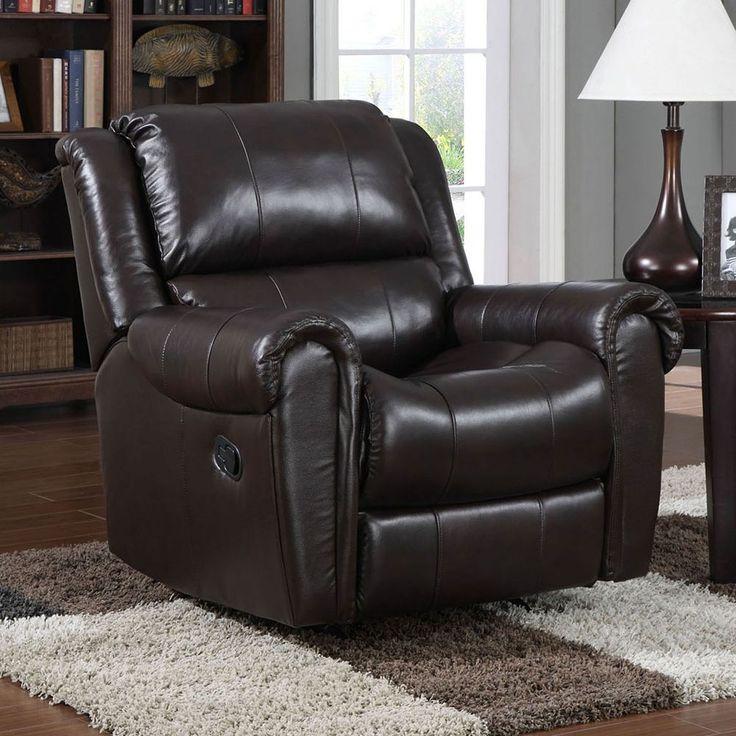 Pulaski Odie Rocker Recliner Chair, Brown