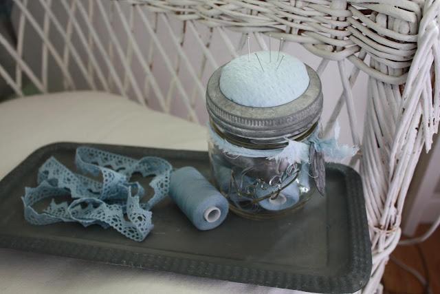 Norgesglass blir nålpute:-)