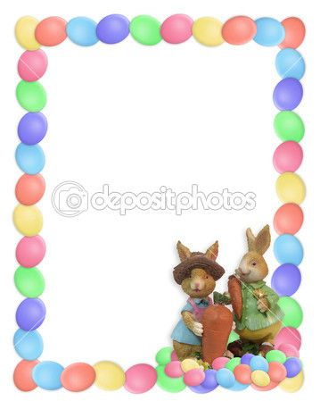 Best Easter Stationery Images On   Page Borders