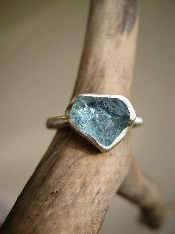 Custom select your Rough Aquamarine ring