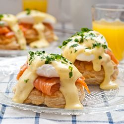 Smoked Salmon and Puff Pastry Eggs Benedict and a Mother's Day Blog Hop!