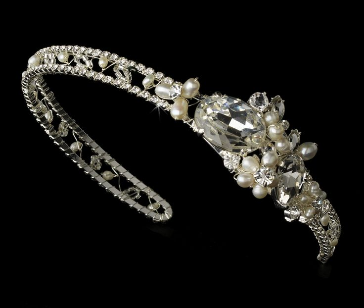 Enchanting! Rhinestone and Freshwater Pearl Bridal Headband