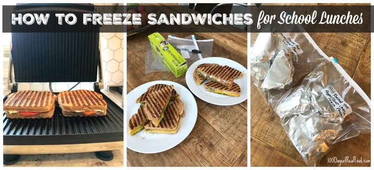 Frozen school lunch sandwiches make healthy packed lunches a breeze! Follow my rules to freeze and defrost and you'll be all set for the week!