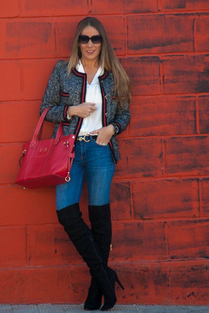 look en tonos rojos
