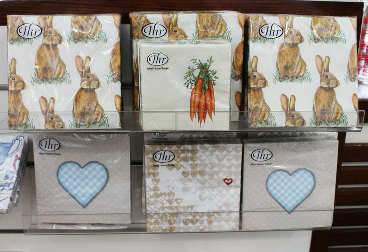 Paper napkins perfectly themed for your Easter table.