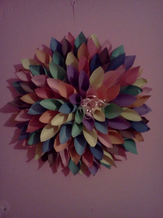 Construction Paper Flower Great For Lil Girls Room Soo Cute Easy