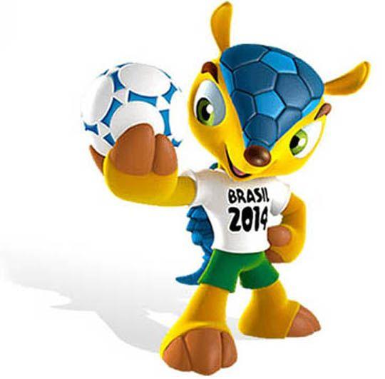 Zuzeco-fuleco-Amijubi mascote da copa 2014 brasil