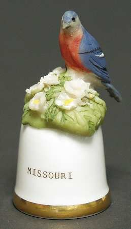 Danbury Mint Birds and Flowers of the 50 States Thimbles: Missouri