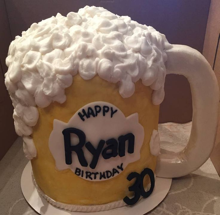 Beer Mug Cake, Male Birthday Cake, Cake for Men, Beer Cake