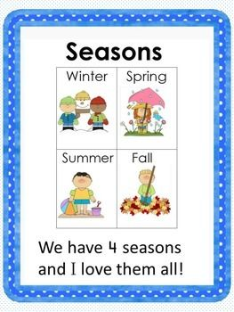 Reading Comprehension Packet: The Four Seasons ($)