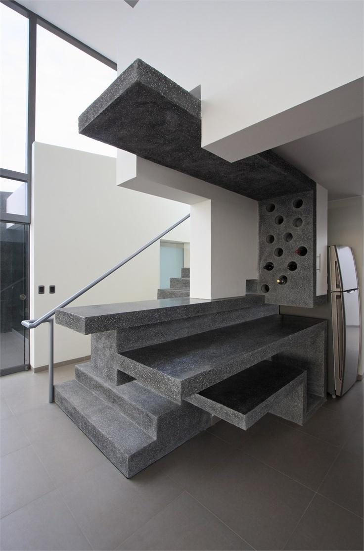 Longhi Architects designed the Beach House Q overlooking Misterio Beach,  Caete, Peru.