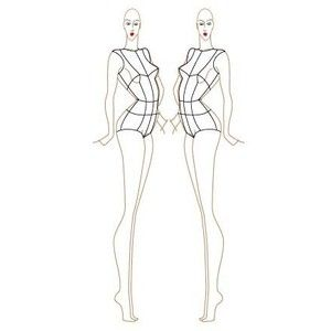 full figure croquis | Female Fashion Croquis Templates ...
