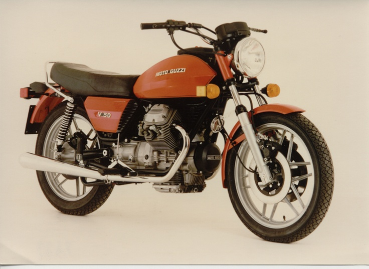 1980 Moto Guzzi V50 Pros: Great handling. Unique engine sound. Good mpg. Light weight. Quick braking. Rarer type. Mixed: Integrated braking system. Somewhat awkward controls. Lean forward a bit... Cons: Lower potential speed/hp than many models of the time. It's orange...