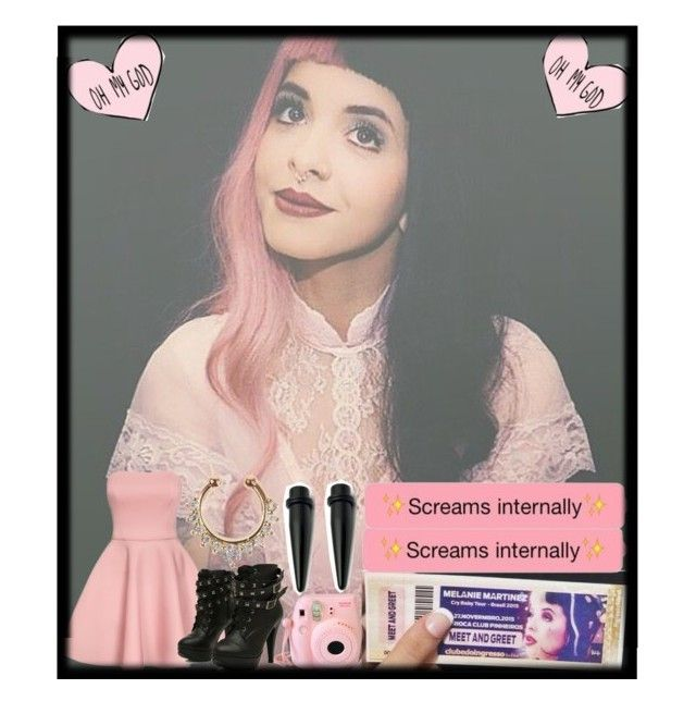 """""""HOLY SHÎT. I just got VIP tickets to Melanie Martinez's 'Milk and Cookies meet & greet'"""" by briannanicole15 ❤ liked on Polyvore"""