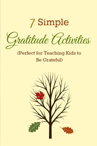 Thanksgiving Day Kids Activities! Help your kids realize how much they have to be grateful for!: