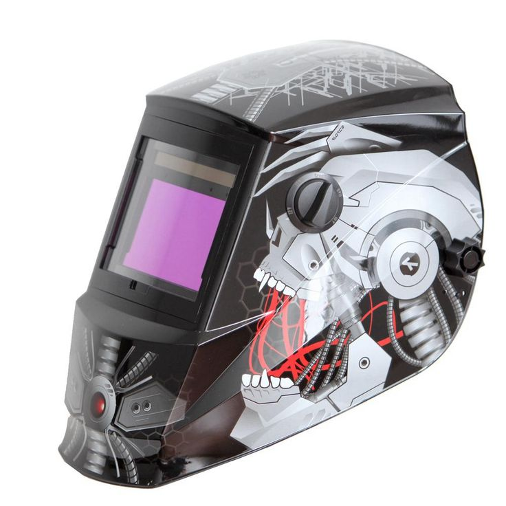 Antra Solar Power Auto Darkening Welding Helmet with Large Viewing Size 3.78 in. x 2.5 in. Great for MMA MIG TIG