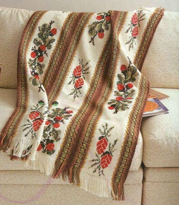 Tunisian Crochet With Embroidery Photo Tunisian Crochet