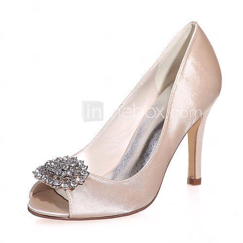 Női - Elől kivágott Lábujj - Esküvői cipők - Szandál - Esküvői / Party és Estélyi -Fekete / Kék / Piros / Elefántcsont / Fehér / Ezüst / - USD $ 38.79