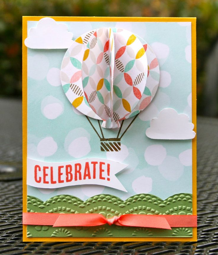 Stampin' Up! Celebrate Today Coastal Coral (Krystal's Cards and More)