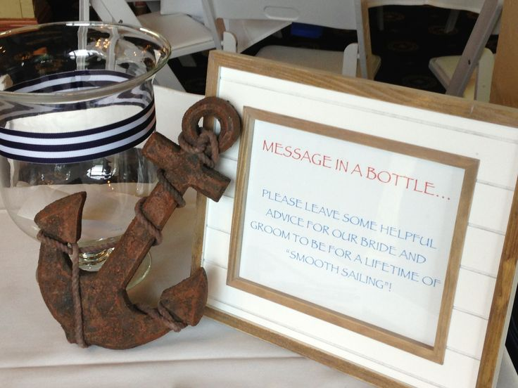 Nautical Wedding Shower Message In A Bottle For Smooth Sailing Bride And Groom