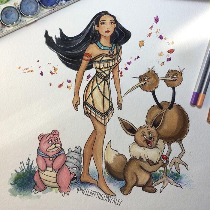 Pocahontas [feat. Slowbro as Percy, Eevee as Meeko & DoDuo as Redfeather] (Mash-Up by WilberthGonzalez @Instagram) #Pocahontas