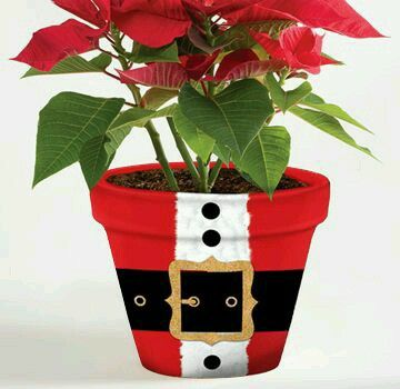Santa Suit Clay Pot Christmas Special Occasions Pinterest Pots And Crafts