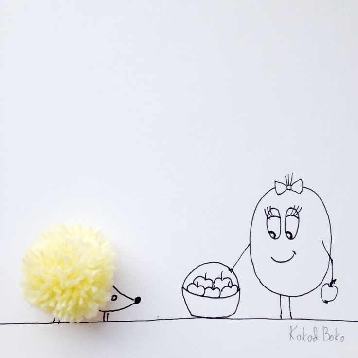 :) #kokoboko #koko #story #cute #smile #fun #hedgehog #pompon #yellow #art #illustration #drawing