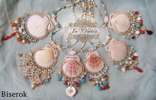 Shell pendants