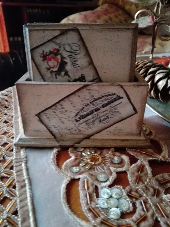 Check out this item in my Etsy shop https://www.etsy.com/uk/listing/490419226/decoupage-shabby-chic-wood-coasters