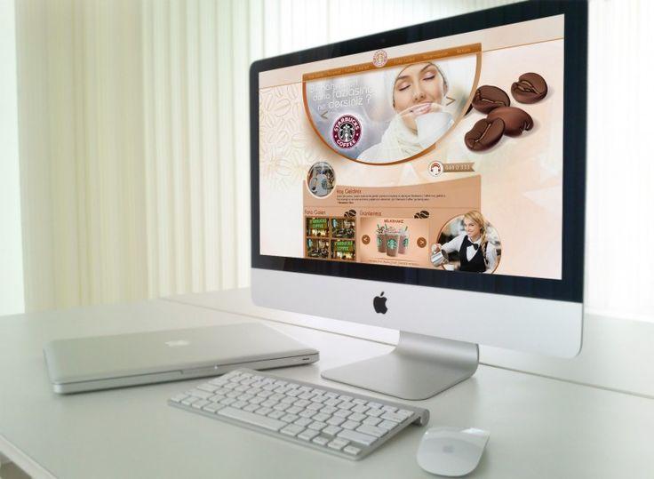 kahve kafe web site tasarımı - mockup / kocaeli web tasarım