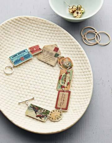 Shrinky Dink Bracelet {DIY Jewelry} ~Make you own darling DIY jewelry for yourself or to give as a gift with this free set of 34 vintage ephemera images. Or, use photographs of your children/grandchildren to make this a wonderful personalized gift for parents or grandparents
