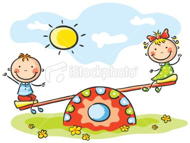 Seesaw Royalty Free Stock Vector Art Illustration