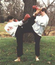 Yaw-Yan Mountain Storm Kick by Paul [c. 1989].  Yaw-Yan Martial Arts USA, Sommerville, New Jersey.