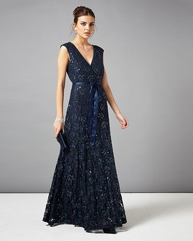 Murcia Lace Beaded Full Length Dress
