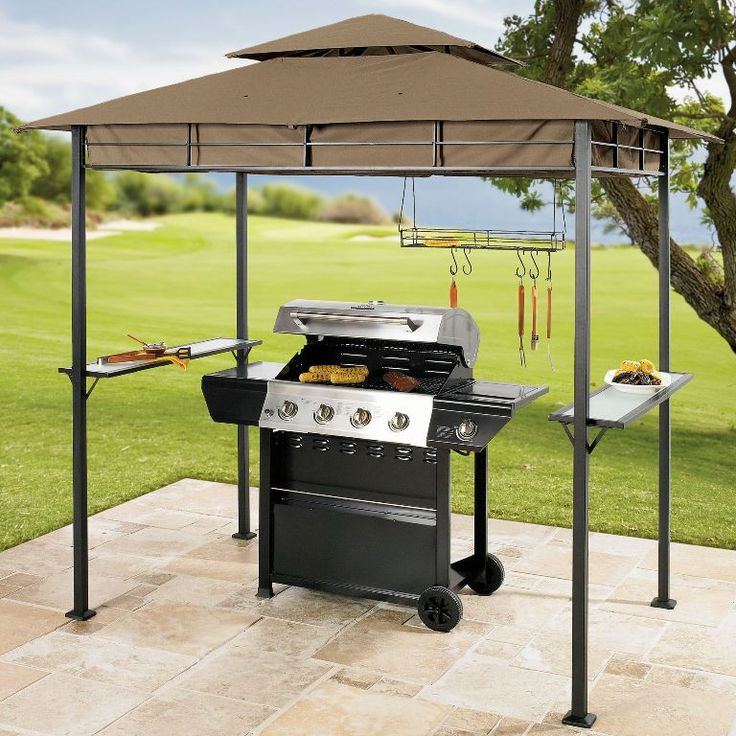 how to build a grill gazebo