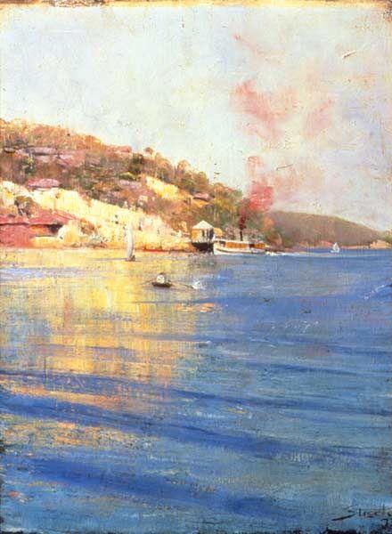 The Point Wharf, Mosman Bay - 1893 by Arthur Streeton, that greatest of painters of Australian light.