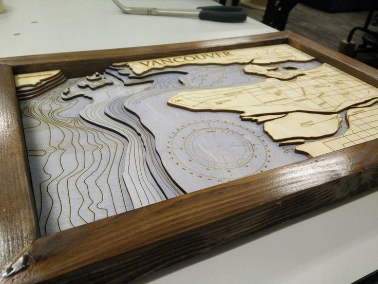 Laser Cutting Bathymetric Maps | Hackaday
