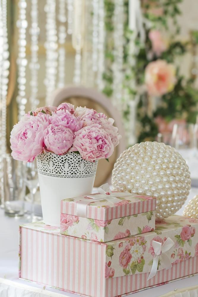 Peony wedding arrangement